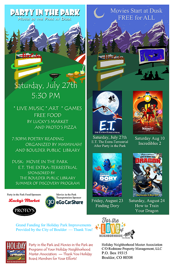 Movies in the Park 2019 Postcard