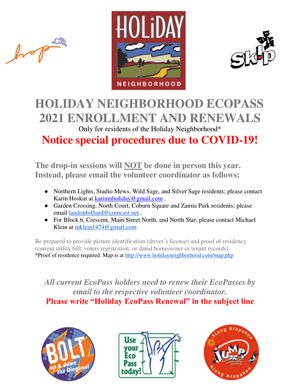 HOLIDAY ECO PASS 2020 FLYER